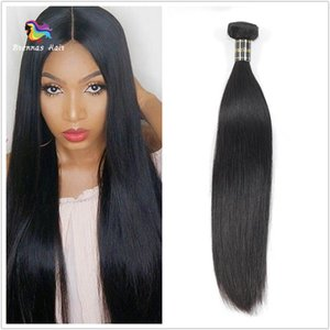 Wholesale Brazilian Peruvian Malaysian Indian Straight Virgin Human Hair Weaves A Top Selling Unprocessed Hair Extension inch With Thick Ends