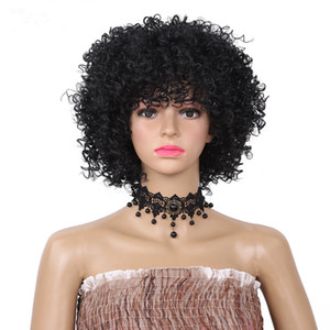 Wholesale Short African Wigs High Temperature No Lace Wigs Inch Ombre J Kinky Curly Synthetic Wigs For Black Women Heat Resistant
