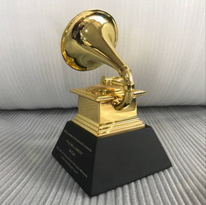 Grammy Award Gramophone Exquisite Souvenir Music trophy zinc alloy Trophy Nice gift Award for the Music Competition Free Shiping