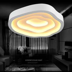 FULOC Modern Ceiling Lights lamps for living room bedroom lustres de sala home Dec LED Chandelier ceiling Remote Control on Sale