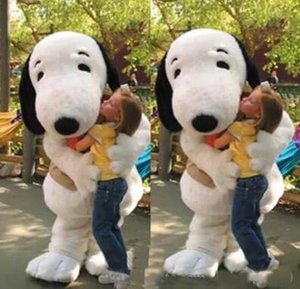 2019 High quality new EPE Adult Size Snoopy Dog Mascot Costume Halloween Chirastmas Party Fancy Dress Free Shipping