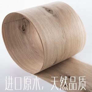 Length: 2.5Meters Thickness:0.52mm Width:16cm Natural knots white oak wood veneer