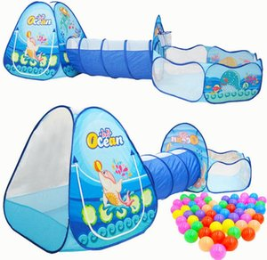 Wholesale Toys Tunnel Tent Ocean Series Cartoon Game Big Space Ball Pits Portable Pool Foldable Children Outdoor Sports Educational Toy