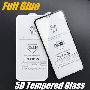 Wholesale High Quality D Tempered Glass Screen Protector Full Cover Curved Screen Cover For iPhone XS Xr Xs Max Plus with Retail Box