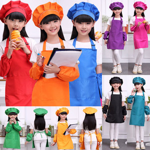 Wholesale New Multi Color Aprons Kids Apron Pocket Craft Cooking Baking Art Painting Kids Kitchen Dining Bib Children Aprons Kids Aprons WX9