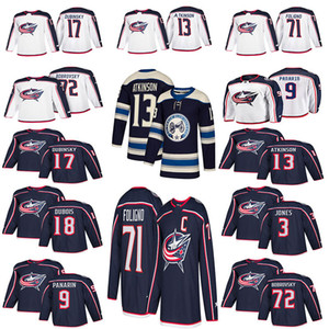 Men's 2018 Columbus Blue Jackets Jersey 3 Seth Jones 9 Artemi Panarin 71 Nick Foligno 72 Sergei Bobrovsky hockey jerseys on Sale