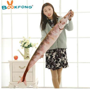 Wholesale BOOKFONG Pc cm Creative Cute Simulation Saury Shaped Plush Fish Pillow Soft Plush Toys Children Lovely Saury Kawaii Kids Gifts