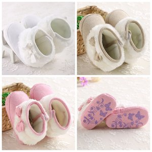 Wholesale First Walkers Shoes Baby Boots Winter First Walkers Fashion Baby Girls Shoes Fur Snow Warm Boots ,High Quality