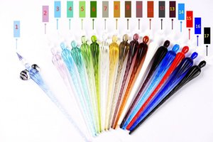 Wholesale Glass Drip Fountain Pen Vintage Glass Dip Dipping Pen Signature Filling Ink Fountain Pens With Gift Box New