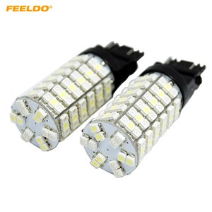 Wholesale FEELDO Car SMD T25 Switchback White Amber Yellow Dual Color LED Light Bulbs