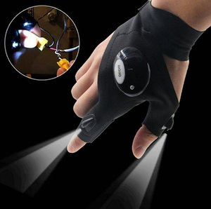 2 LED Light Flashlight Cycling Gloves Torch Magic Strap LED Glove For Repairing and Working Outdoor Sporting Camping Hiking Finger Light