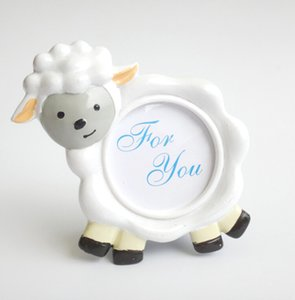 Wholesale 100 NEW ARRIVAL Lovely Sheep Design Picture Frame Photo Holder Baby Shower Favors Birthday Party Gift