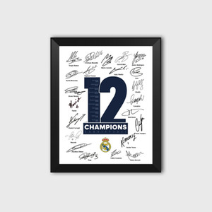 Wholesale football photos for sale - Group buy Royal Los Blancos th th European Crown Football Fans Autograph Poster Photo Picture Frame Ramos Decoration