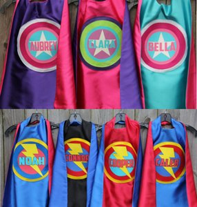 Wholesale FULL NAME Custom Boy birthday present Personalized Cape Any name of colors party