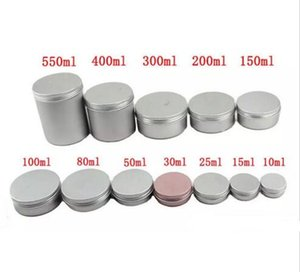 Wholesale Different Size Empty Containers Container Aluminium Jar Tea Cans Aluminum Box Cases Makeup Empty Lip Gloss Jars Cosmetic Jars Box