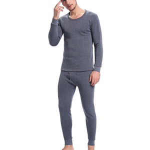 Wholesale Hot Winter Mens Warm Thermal Underwear Mens Long Sexy Black Thermal Underwear Sets Thick Plus Velet Long For Man
