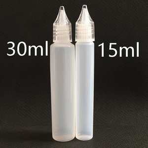 Wholesale 10ml ml ml ml Unicorn Crystal Caps Slim Pen Style E Liquid Juice Oil Plastic PE Empty Bottle with Long Thin Tip DHL