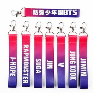 Wholesale BTS Bangtan Boys Name Strip Keyring Key Rings For Women Bag Charms For Phone Case Wallet Keychain Key Chain
