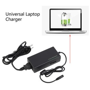 Wholesale Freeshipping W Universal Power Charger Charging Adapter AC V V For Laptop Notebook With Different Size Detachable Plugs