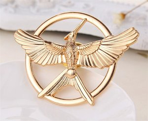 Wholesale 200pcs Retro Movie Jewelry The Hunger Game Bird Brooches pin metal Mockingjay Pins jewelry for men women Halloween gift R089