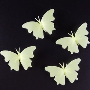 Wholesale 4PCS Set Luminous Butterfly Sticker Glow In The Dark Wall Stickers Baby Nursery Children Bedroom Decoration QW8297