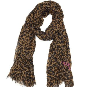 Wholesale Big sale Autumn and winter classic print leopard pattern cotton material creasing Ms Scarf big size cm cm