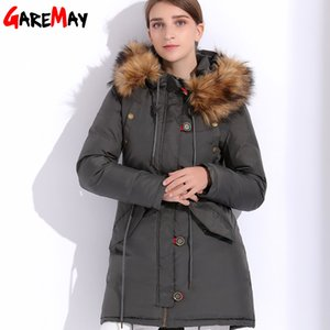 Wholesale Fur Coat Parka Female Jacket Winter Women Warm Hood Coats Chaqueta Mujer Down Cotton Parka Women Waterproof Fur Basic GAREMAY