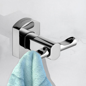Wholesale Wall Mounted Brass Chrome Finish Coat Hook Robe Hooks Kitchen Bathroom Single Towel Robe Hat Hanger Bathroom Hardware