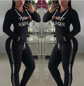 Wholesale New Hot Sale spring style sweat shirt Print tracksuit women Long Pants Pullover Tops Womens set Women Sport Suits