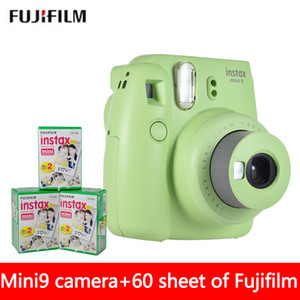 New 5 Colors Instax Mini 9 Instant Photo Camera + 60 sheet Fuji Instax Mini 8 White Film + Close up Lens on Sale