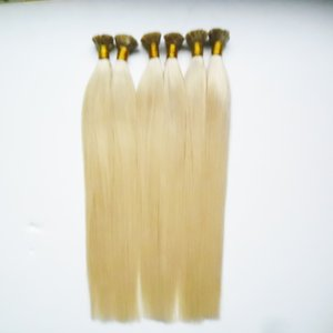 Human Keratin Extensions 1g Flat Tip Hair Natural Hair on Capsules 300s Blonde Straight Keratin Stick Flat Tip Hair Extensions on Sale
