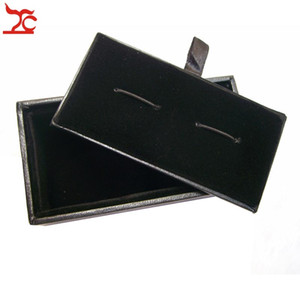 Wholesale 20Pcs Men's Cufflinks Box Classicia Black Cufflink Package Storage Gift Boxes 8x4x3cm