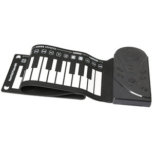 Wholesale 49 key speaker hand roll electronic piano portable folding electronic soft keyboard roll up the piano-MUSIC