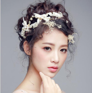 Wholesale Korean bow bow tie bride hair white wedding dress accessories handmade headwear