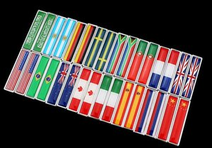 Wholesale Italy South Africa Saudi Arabia Australian Russian USA flag Car Styling Sides sticker New Pair Metal Label D Car Stickers Auto Metal Emblem