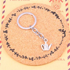 Wholesale Keychain watering can gardening Pendants DIY Men Jewelry Car Key Chain Ring Holder Souvenir For Gift