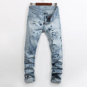 hommes à long ongles achat en gros de-news_sitemap_homeMode Hommes Jeans Street Casual Hommes Zipper Fly Flocon De Neige Jeans Hot Nails Hommes Slim Pantalon Droit Lavages À L eau Hommes Denim Pants