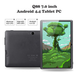 Wholesale Q88 Kids Android Quad Core Tablet Portable Allwinner WiFi Bluetooth Inch MB RAM GB ROM Camera A33 GHz PC Retail Package