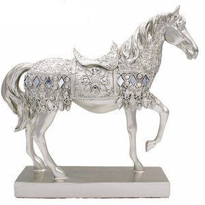 Wholesale SaiDeKe Home decor Trotting Horse Statue cabinet decorations Bedroom Decoration Horse creative living room home accessories