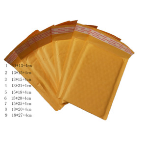 Wholesale Yellow self sealing poly bubble waterproof Kraft Kraft Bubble Envelope Mailers Padded Envelopes padding wrapping Bags shipping packing