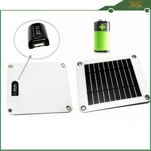 Wholesale 5 W V Solar Powered Portable Power Solar Panel Battery USB Charger for Phone Black