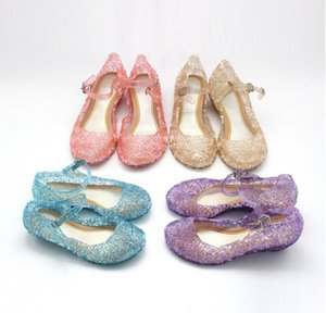 Fashion Girls Garden Crystal Sandals Mesh Hole Shoes Girls Melissa Sandals Jelly Shoes Sandals Shoes For Girls on Sale