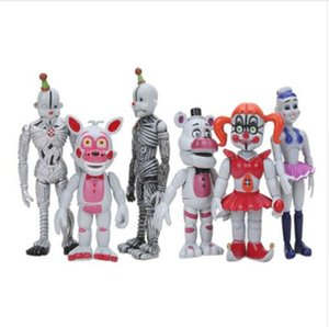 6pcs set FNAF Figure Five Nights At Freddy's Sister Location Funtime Foxy Freddy bear Ballora Ennard Springtrap Action Figure