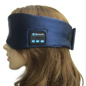 Wholesale Silk Bluetooth Headphone Sleeping Eye Mask Stereo Music Player Bluetooth Sleep Eye Shades Headset Handsfree