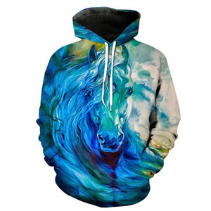 Wholesale oil s for sale - Group buy 3d Hoodies Men Thin d Sweatshirt With Hat Print Oil Painting Fancy Sweatshirt Men Women Couples Hooded Hoodie S XL