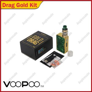 Wholesale Voopoo Gold Drag Kit W TC Mod Gold Frame Drag Box Mod with ML Voopoo UFORCE Tank Standard Edition Quick Vent Channel Fast