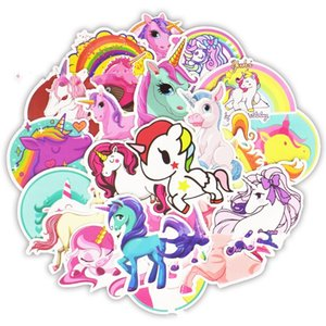 30pcs 1set Cartoon Unicorn Sticker Colorful Cute Pegasus Pvc Waterproof Stickers Non Fading Graffiti Paster For Decoration 4 5sd Z on Sale