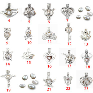 Fashion Jewelry Silver Pearl Cage Jewelry Locket Pendant Findings Cage Essential Oil Diffuser Locket For Oyster Pearl