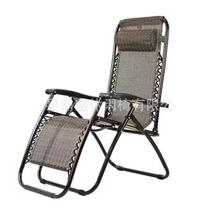Wholesale Casual Foldable Deck Chair Practical Metal Frame Beach Backrest Chairs Corrosion Resistant Chaise Longue For Outdoor Garden ds BB