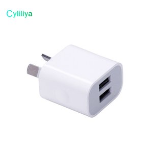 Wholesale Dual interface V A AU Plug USB Wall Charger Power Travel AC Adapter for Smart Phone Cell Phone Mobile Phone